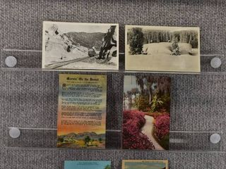 lot of 7 Vintage Postcards   Odessa   Cajon   Postmark 1961 1956Passses   Resorts   Includes Real Picture Postcard s s