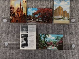 lot of 9 Vintage Postcards   Florida   California   Postmark 1964  1966  1949  1957