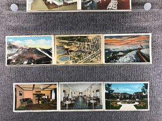 lot of 10 Vintage Postcards   Colorado   Postmark 1939  1954 Woodmen Colorado sites   Scenic