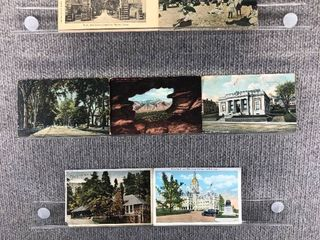 lot of 8 Vintage Postcards   Colorado   Connecticut   Postmark 1913 Scenic   Buildings