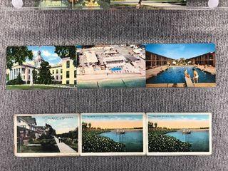 lot of 10 Vintage Postcards   Florida   Postmark 1955  1932 Scenic Ocean Front   landscape