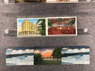 lot of 10 Vintage Postcards   Florida   Postmark 1957  1971 Scenic landscapes   Hotels