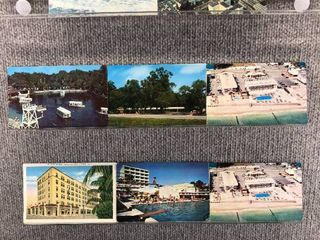 lot of 10 Vintage Postcards   Florida   Postmark 1955  1954 Tourist Attractions   Scenic