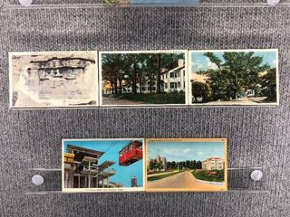 lot of 9 Vintage Postcards   Georgia   Postmark 1919 1953 1954 1957