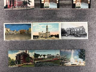 lot of 10 Vintage Postcards   Illinois  Indiana   Iowa   Postmark 1909  1948 University  landscape   Includes Real Picture Postcard s