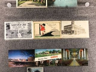 lot of 10 Vintage Postcards   Iowa   Kansas   Postmark 1983  1963  1908  1907 Scenic