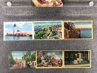 lot of 10 Vintage Postcards   Massachusetts   Postmark 1944  1943 Historical