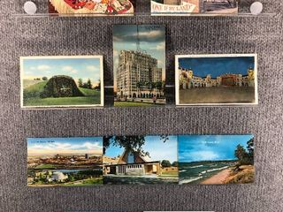 lot of 10 Vintage Postcards   Massachusetts  Illinois   Michigan   Postmark 1945 Port Huron   Scenic