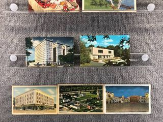 lot of 10 Vintage Postcards   Massachusetts  Illinois   Michigan   Postmark 1957  1976 Buildings   landscape