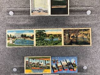 lot of 10 Vintage Postcards   Montana  Minnesota   Missouri   Postmark 1940   1951   Includes Real Picture Postcard s