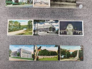 lot of 10 Vintage Postcards   Minnesota   Missouri   Postmark 1950  1944 Buildings   landscape   Includes Real Picture Postcard s