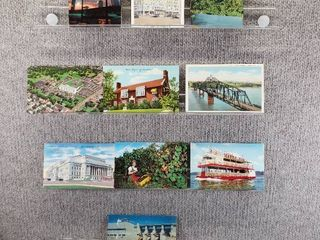 lot of 10 Vintage Postcards   Minnesota   Missouri   Postmark 1980   1952 Scenic landscapes