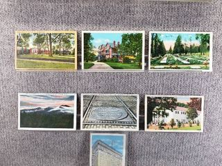 lot of 10 Vintage Postcards   Minnesota   Nebraska   North Carolina   Postmark 1973 Historic Sites   Scenic