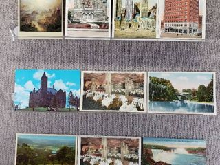 lot of 10 Vintage Postcards   New York   Postmark 1963  1976 Niagara Falls  Churches
