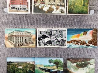 lot of 10 Vintage Postcards   New York   Postmark 1939 Historical Buildings   landscapes