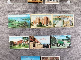 lot of 10 Vintage Postcards   New York   Postmark 1940  1977