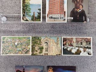 lot of 10 Vintage Postcards   Nevada   New York   Postmark 1942  1938 landmarks   Historical