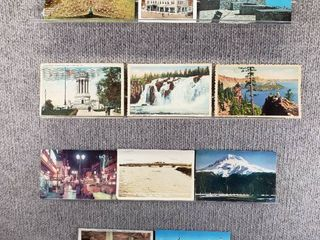 lot of 10 Vintage Postcards   New York   Oregon    Postmark 1918Historical landscape   Includes Real Picture Postcard s
