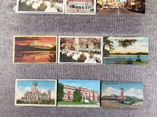 lot of 10 Vintage Postcards   New York  Ohio  Oregon   Postmark 1949  1931   1969 Historical