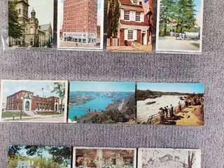 lot of 10 Vintage Postcards   New York  Ohio  Oregon   Pennsylvania   Postmark 1908  1909 landscape   Buildings