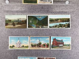 lot of 10 Vintage Postcards   Pennsylvania   New York   Postmark 1911Waterways   Buildings