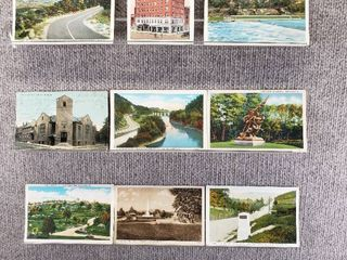 lot of 10 Vintage Postcards   Pennsylvania   New York   Postmark m1916 Churches   Scenic