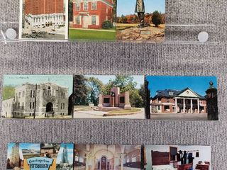lot of 10 Vintage Postcards   Pennsylvania   New York   Postmark 1913 Scenic   Buildings
