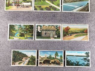 lot of 10 Vintage Postcards   Pennsylvania   Postmark 1911Waterways   Buildings