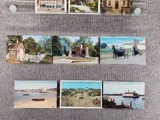 lot of 10 Vintage Postcards   Pennsylvania   Rhode Island   Postmark 1968  1951 Boats   Scenic