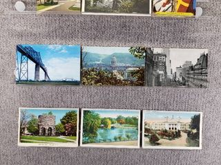 lot of 10 Vintage Postcards   Rhode Islans  Ohio  and South Carolina   Postmark 1976  1953 Bridges  Buildings