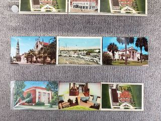 lot of 10 Vintage Postcards   South Carolina  New York   Pennsylvania   Postmark 1953