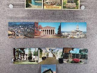 lot of 10 Vintage Postcards   Tennessee   Postmark 1958  1963 Parks and Historical