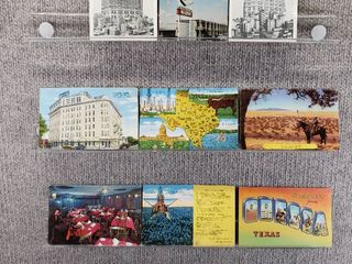 lot of 10 Vintage Postcards   Texas   Postmark 1945  1955 Greetings  Hotels   Historical   Includes Real Picture Postcard s
