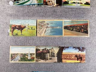 lot of 10 Vintage Postcards   Texas   Postmark 1942  1950 Seashores   City