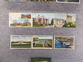 lot of 10 Vintage Postcards   Pennsylvania   Texas   Postmark 1927  1948