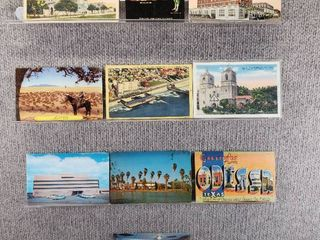 lot of 10 Vintage Postcards   Texas   Postmark 1937  1944 Historical Building and landscape