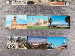 lot of 10 Vintage Postcards   Texas   New York   Postmark 1968  1961 1971 Worlds Fair   landscape