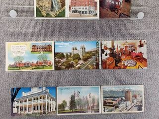 lot of 10 Vintage Postcards   New York  Pennsylvania   Utah   Postmark 1942  1953 landscape