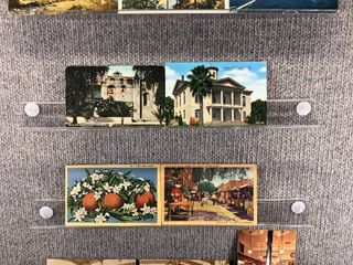lot of 10 Vintage Postcards   California   Postmark 1946  1954 Yuba City  Churches   landscape