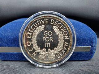 Executive Decision Maker Collectible Coin 1 Troy Oz  999 Fine Silver Round