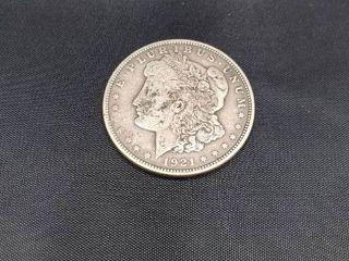1921 USA Morgan Dollar Silver Coin