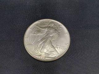 1986 USA Walking liberty 1 Oz Silver Dollar