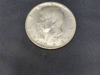 1964 USA Kennedy silver half dollar
