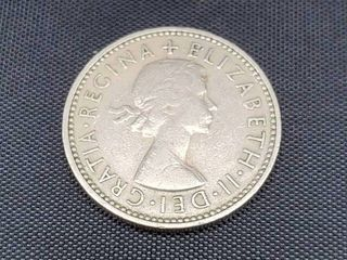 1954 United Kingdom one shilling