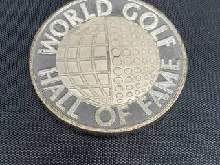 WORlD GOlF HAll OF FAME  999 SIlVER ROUND SHRINE FOR THE GREATS OF GOlF