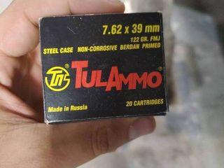 Box of Tula Ammo 7 62 x 39 mm
