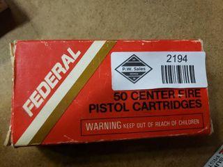Partial Box of Federal 380 Auto