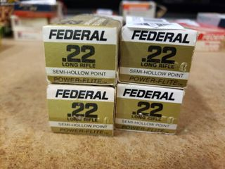 4 Boxes of Federal 22 lR Ammo