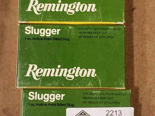 3 Boxes Remington Slugger 12 Gauge Shotgun Shells