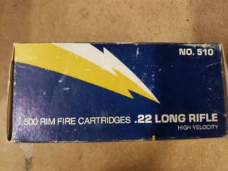 Box of 500 rounds 22 lR Ammo